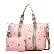 LB1929 - Miss Lulu Matte Oilcloth Plegable Bolsa de noche Estampado Unicornio Pink