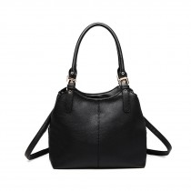 LH1947 - miss LU MULTI COMPARMENT SHULDER BAG- BLACK