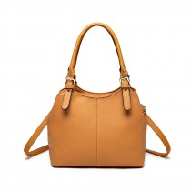 LH1947 - miss LU MULTI COMPARMENT SHULDER BAG- BROWN