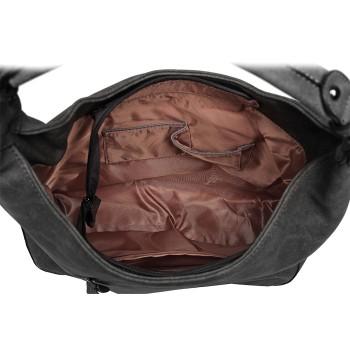 LH6810-MISS LULU BEADED COLOUR BLOCK HOBO HANDBAG SHOULDER BAG GREY