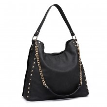 LH6811-MISS LULU STUDDED GRAND SAC À MAIN SLOBY HOBO