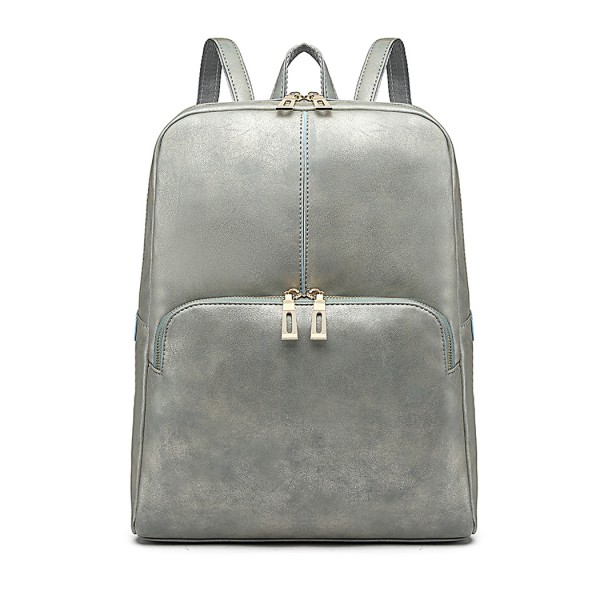 LH6867 - Miss Lulu Distressed Effect Leather Look Backpack - Blue