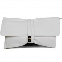 LM1612 - Miss Lulu Leather Look Long Handle Clutch Bag Beige