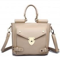 L1631 - Bolso pequeño cuadrado Miss Lulu con sobre en camel