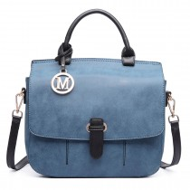 LM1670-Miss Lulu Medium Cross Body Messenger Bag Blue