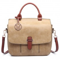 LM1670-Miss Lulu Medium Cross Body Messenger Bag brown