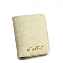 LP1680 - Miss Lulu Small Textured Leather Look Purse Beige