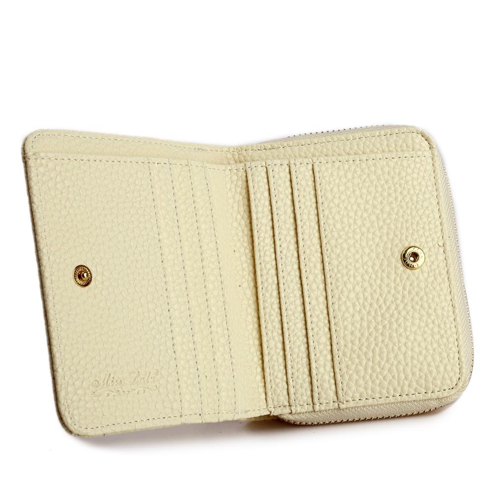 lp1680 petit portefeuilles miss lulu en simili cuir textur en beige. Black Bedroom Furniture Sets. Home Design Ideas