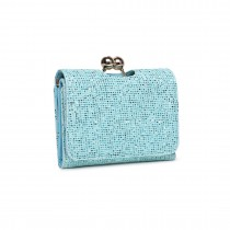 LP1781 BE - Miss Lulu Glittering Small Clasp Purse Blue
