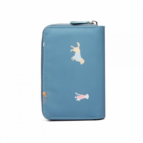 "Miss Lulu - Cartera Pequeña Estampado ""Dogs in Jumpers"" Azul"