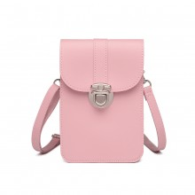LP2034 - Miss Lulu Multi Use Portefeuille portable Mini Sac à Bandoulière - Rose