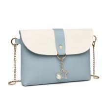 LP2061 - Miss Lulu Porte-monnaie à bandoulière avec breloque - Bleu