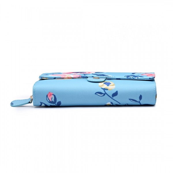 LP6682-16J - Miss Lulu Small Oilcloth Monedero pájaro Bluee