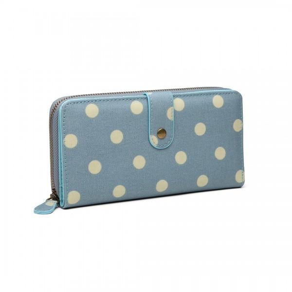 Bolso de lunares LP6801D2-Miss Lulu oilcloth Azul