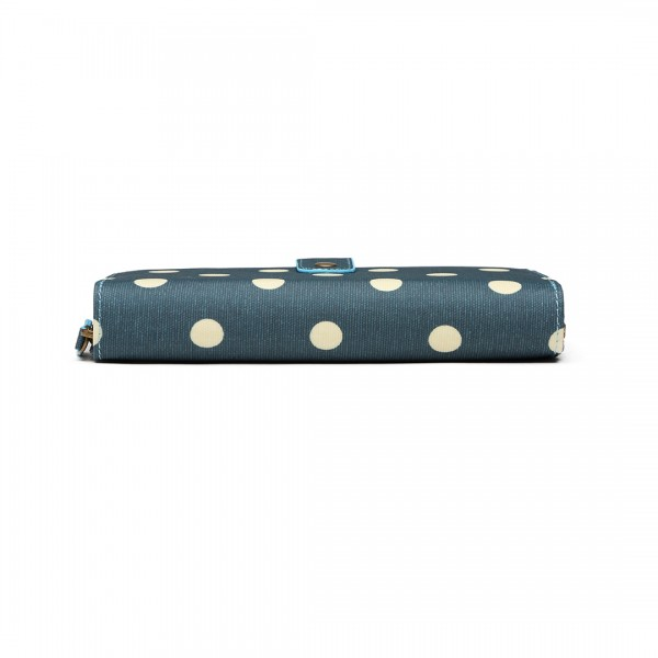 LP6801D2 - Miss Lulu Oilcloth Polka Dot Purse Dark Green