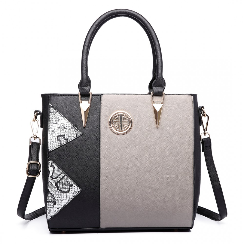 I love this handbag. I purchased the creamy gray color, and it's so pretty. The handbag is well made. It has plenty of room, but not overly huge - like a tote bag (nice, since everything fits but doesn't get lost rolling around in the abyss like in the bottom of a tote bag).