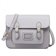LT1665-MISS LULU STILLEDERKLEIN SATCHEL GREY CROSSBODY
