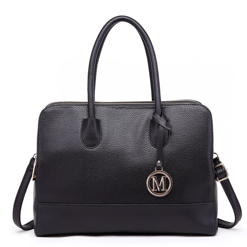 8380baea54e8 LT1726 - Miss Lulu Textured PU Leather Medium Size Classic Tote Bag  Shoulder Bag