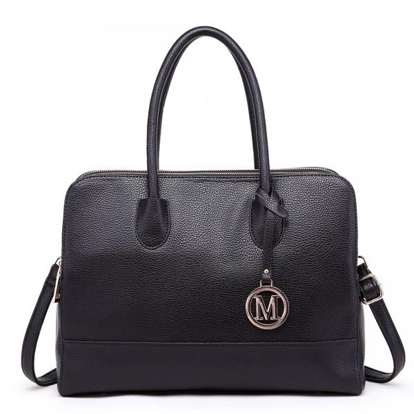 LT1726 - Miss Lulu Textured PU Leather Medium Size Classic Tote Bag Shoulder Bag