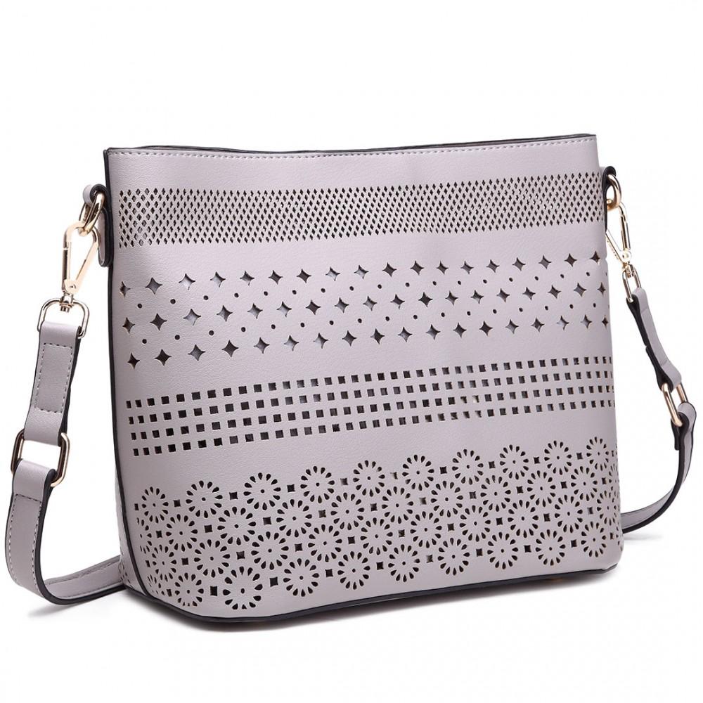 cdf58a6476f0 LT1735 - Miss Lulu Leather Look Laser Cut Out Shoulder Bag .