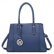 LT1748 BE - Miss Lulu Multi-Compartment Shoulder Handbags Blue