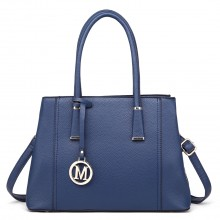 LT1748 BE - Miss Lulu Multi-Compartment Large Handbags Blue