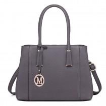 LT1748 GY - Miss Lulu Multi-Compartment Shoulder Handbags Grey