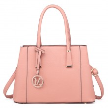 LT1748 PK - Miss Lulu Multi-Compartment Large Handbags Pink