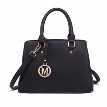 LT1752 BK - Miss Lulu Medium Tote Handbags Black