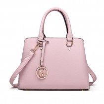 LT1752 PK - Miss Lulu Medium Tote Handbags Pink