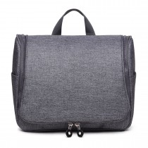 LT1757-D GY - Miss Lulu Toiletry Travel Bags Plain Grey