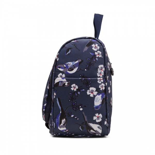LT1757-16J NY - Miss Lulu Toiletry Travel Bags Bird Print Navy