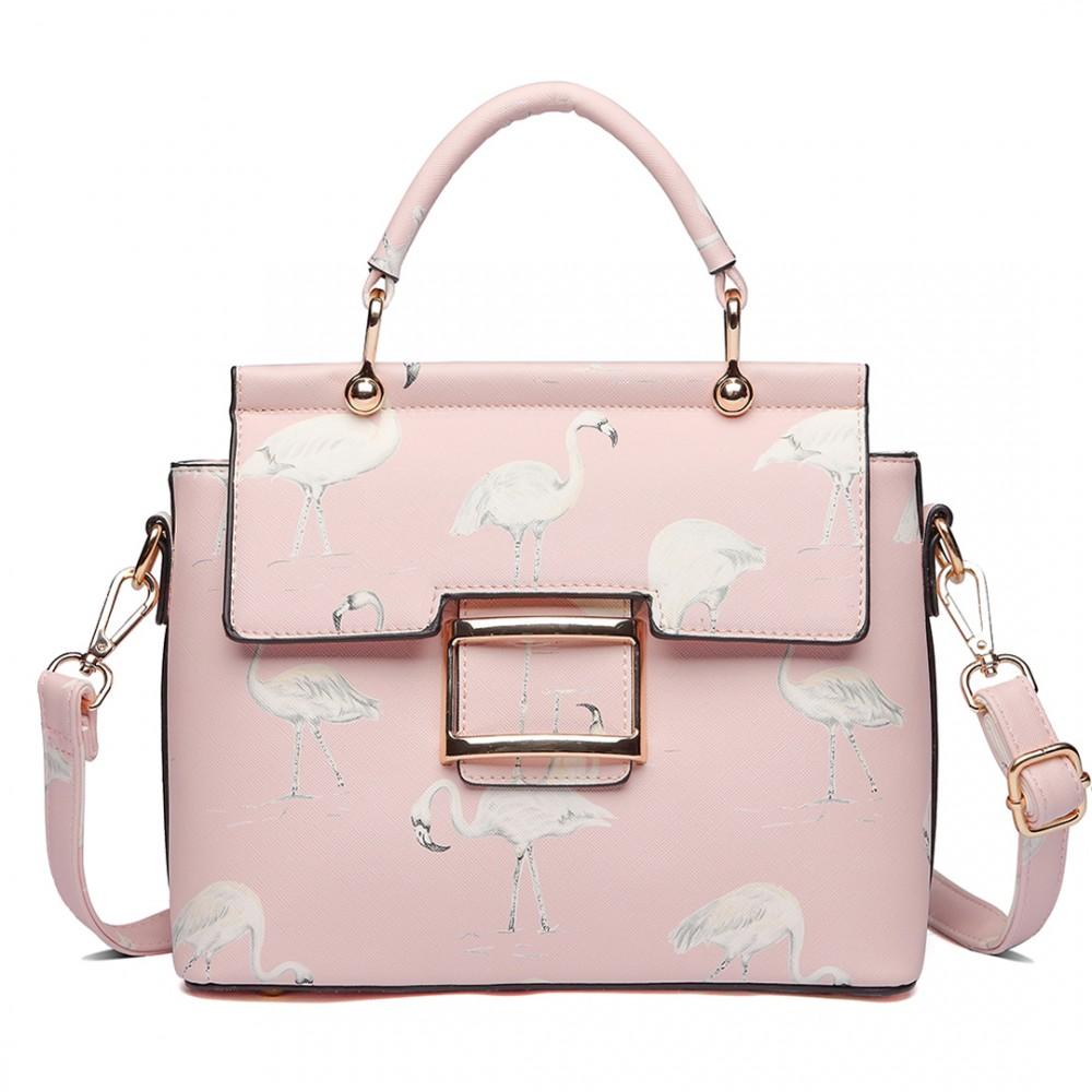 6cb2d34eb5 LT1814 PK - Miss Lulu Mesdames filles impression sac à main belle sac à bandoulière  rose