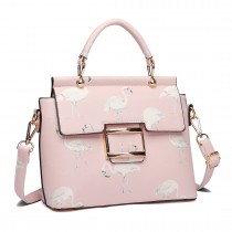 LT1814 PK - Miss Lulu Ladies Girls Printing Handbag Lovely bandolera rosa