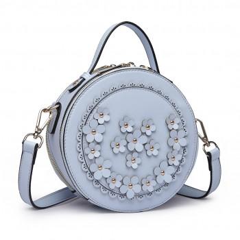 LT1818-Miss Lulu Round Zip Small Crossbody Bags Blue