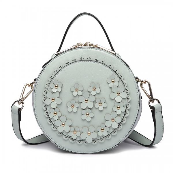 LT1818-Miss Lulu Round Zip Small Crossbody Bags Green
