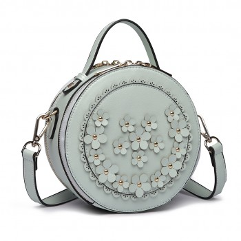 LT1818-Miss Lulu Round Zip Small Crossbody Bags Green