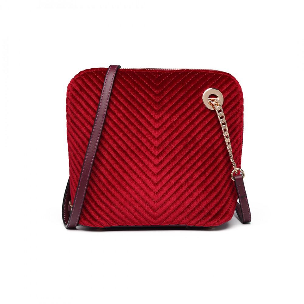 LT1863-MISS LULU PU LEATHER TWILL SMALL CROSS BODY BAG PURPLE 95f65a89e36c3