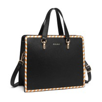 LT1953 - panna Lulu Stripe Design Shoulder Bag - Black