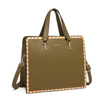 LT1953 - panna Lulu Stripe Design Shoulder Bag - Zielony