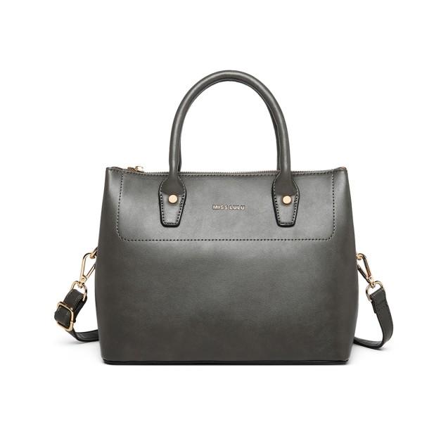 LT1959 - Miss Lulu Silk Scarf Shoulder Bag - Grey