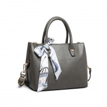 LT1959 - Miss Lulu Silk Scarf Shoulder Bag - Gris