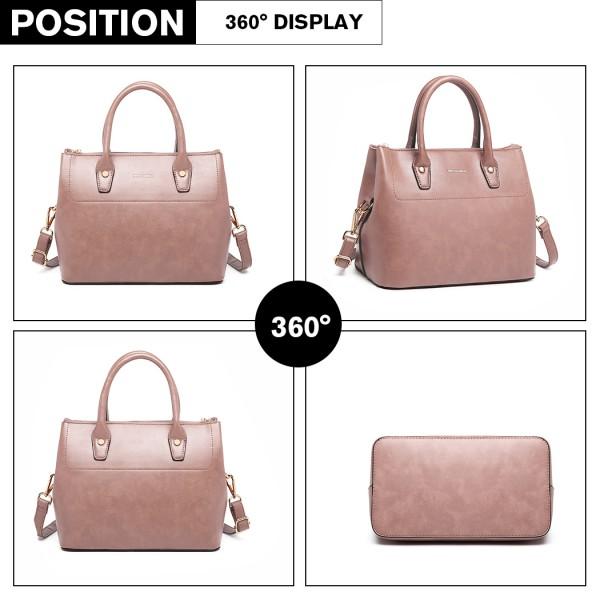 LT1959 - Miss Lulu Silk Scarf Shoulder Bag - Pink