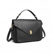 LT2052 - Miss Lulu Funkcjonalna torebka na ramię - Czarny