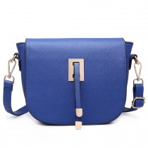 LT6631- Miss Lulu Faux Leather Cross-Body satchel Bag navy