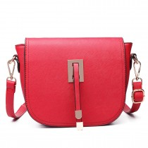 LT6631- Miss Lulu Faux Leather Cross-Body satchel Bag red