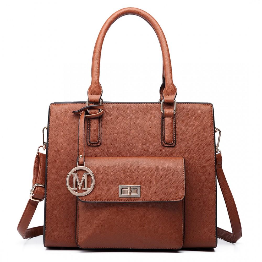 lt6635 frauen moderne pu lederne handtaschen ebene schulter beutelbraun. Black Bedroom Furniture Sets. Home Design Ideas