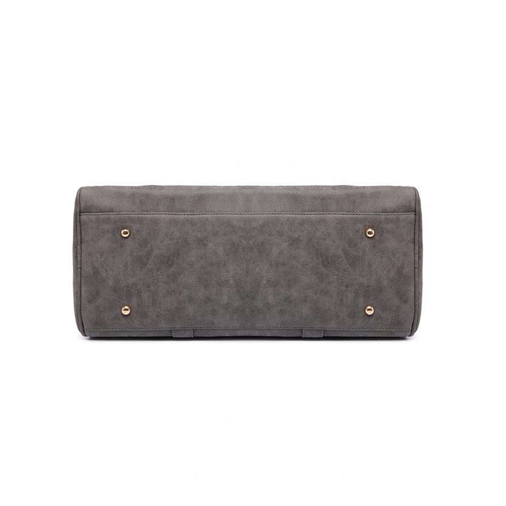 1617fb099d6ba LT6638 - Miss Lulu Leather Look Maternity Changing Shoulder Bag Grey
