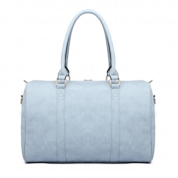 LT6638 - Miss Lulu Leather Look Maternity Changing Shoulder Bag Light Blue