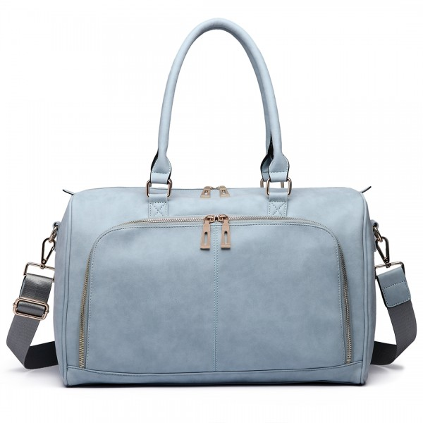 LT6638 - Miss Lulu Leather Look Maternity Changing Shoulder Bag Light Blue